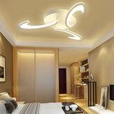 3 Heads Modern LED Acrílico teto lâmpada Pingente luz lustres quarto + controle remoto