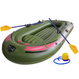 190*120cm 2-Person Green Kayak PVC Inflatable Boat Rubber Inflatable Boat Oars Air Pump Rope Set