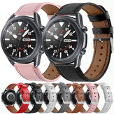 Bakeey 20/22mm Width Casual First-Layer Genuine Leather Watch Band Strap Replacement for Samsung Galaxy Watch 3 41/45mm