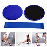 3шт Фитнес Основные ползунки Pad Сопротивление полосы Установить противоскользящие скольжения Спорт Фитнес Yoga Коврики