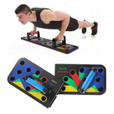11 in 1 Removable Push Up Stand Board dengan Tas Penyimpanan Peralatan Fitness Home Abdominal Muscle Training Sit-up