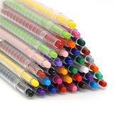 24 Colors Silky Oil Pastel Stick Rotary Crayon Children Painting Graffiti Pens Art Office Stationery Painting Supplies