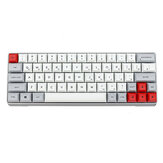 GK64 Aluminium Alloy Case 64 Tombol Keyboard Gaming Mekanik PBT Keycaps Gateron Switch Keyboard Gaming RGB yang Dapat Ditukar