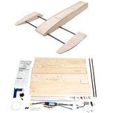 B061 B068 DIY Kit de bateau de vitesse RC Modèle de crevette en bois Sponson Outrigger
