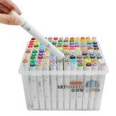 120 रंग मार्कर पेन कलाकार स्केच ग्राफिक आर्ट पेंटिंग फाइन निब्स ट्विन टिप बोर्ड ड्राइंग पेन