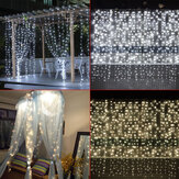 3 M * 3 M 304 LED Okno Sopel Kurtyny Fairy String Światła Wedding Party Home Decor US Wtyczka AC110V