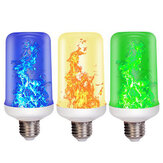 E27 3W 99LED Flame Effect Fire Light Bulb With gravity sensor Yellow/Green/Blue Light