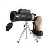 18x62AoArLivreCompassMonocular HD Dia Optical Night Vision Telefone Telescópio Cmaping Viagem