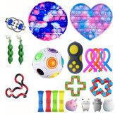 22 adet Fidget Kabarcık Oyuncaklar Duyusal Set DIY Dekompresyon Artefakt Fidget Kabarcık Cube Yetişkinler için Kız Çocukları Ifade Duygu Stres