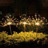 Outdoor Solar Garden Stake Lights Dandelions Lamps 90/120/150 LED Lawn Landscape