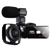 Komery AF2 4K48MPデジタルビデオカメラWifiAPPコントロールforYoubute Vlogging Live Video Recording Camera NightShot DV with Microphone Wide Angle Lens