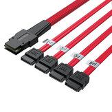 36P мини-кабель SAS с плоской головкой SFF8087 на 4 SATA3 Server Hard Disk Data Cable Коннектор 6 Гбит / с 0,5 м Shengwei WSAS4087A