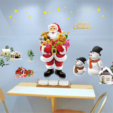 Removable Merry Christmas Santa Snowman Window Wall Sticker Decal Mural Decor