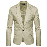 Mens Pure Color Тонкий Fit Busniess Casual Suit Blazers