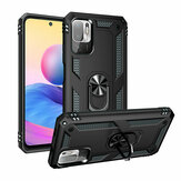 Bakeey for POCO M3 Pro 5G NFC Global Version/ Xiaomi Redmi Note 10 5G Case Armor Bumpers Shockproof Magnetic with 360 Rotation Finger Ring Holder Stand PC Protective Case Non-Original