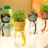 DIY Mini Doll Tail Water Absorption Potted Plant Desktop Office Decor