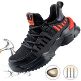 Men's Safety Shoes Steel Toe Work Boots Reflective Anti-slip Running Shoes Hiking Jogging Sneakers