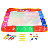 Water Doodle Mat Water Drawing Painting Mat Large Size Mess-Free Aqua Magic Mat for Kids Boys Girls