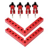 Drillpro 2 zestaw do obróbki drewna precyzyjne mocowanie kwadratowe w kształcie litery L osprzęt pomocniczy panel pozycjonujący panel stały klips stolarz linijka kwadratowa narzędzie do obróbki drewna