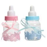 12 Adet Doldurulabilir Şişeler Şeker Kutu Bebek Duş Vaftiz Parti Favor Vaftiz