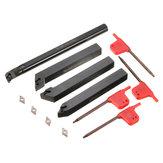 4pcs 12mm Lathe Bohrstange Tunring Werkzeughalter mit 4pcs DCMT0702 einfügen