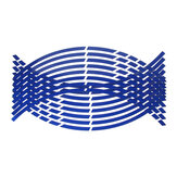 16 Strips 17/18inch Wheel Tire Stickers Strips Reflective Rim Tape Motorcycle Car Decals Auto Decoration Accessories