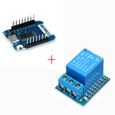 D1 mini V2.2.0 WIFI Internet Development Board + 1 Channel 5V Relaismodule High Level Trigger