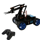 PI Master 'DIY 4WD تتبع Avstable Avoidance ذكي RC Robot Arm Car with Wireless stick متوافق