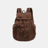 Men Vinatge Canvas Anti-theft Backpack Student Bag Travel Bag