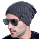 Mens Thick Plus Velvet Warm Warm Knitted Beanie Sombrero