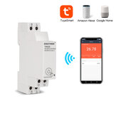SINOTIMER TM608 AC 110V 220V 16A 18mm Eenfase digitale tijdschakelaar Remote WiFi Smart Light Control Switch Programmeur met energiebewaking