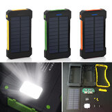 Bakeey F5 10000mAh Solar Panel LED Dual USB Porte DIY Power Bank Case Batterioplader Kit Box