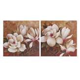 2 Pcs Flowers Canvas Print Paintings Wall Decorative Print Art Pictures Framed Wall Hanging Decorations for Home Office