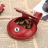 Women Men Genuine Leather Earphone Case Coin Purse