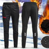 Hombres Mujer Thermal Fleece Winter Racing Pantalones Sportswear Pantalones reflectantes Impermeable