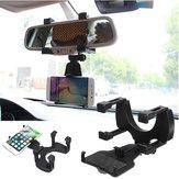आईफोन सैमसंग ज़ियामी जीपीएस के लिए यूनिवर्सल ऑटो कार रीयरव्यू मिरर माउंट होल्डर फोन ब्रैकेट