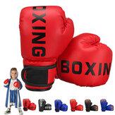 1 paire PU cuir enfants gants de boxe enfants karaté taekwondo gants de formation d'absorption des chocs