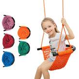 Kinderen weven schommel touw netto hangmat baby familie opknoping stoel voor tuin tuin achtertuin speelgoed