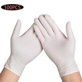 100 Stück Einweg Latex Handschuhe Reinigung Arbeit Fingerhandschuhe Latex Protective Home Food Für Sicherheit Weiß