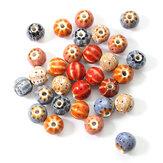 12mm 5Pcs Ceramic DIY Jewelry Flower Glaze Watermelon Forme Loose Beads