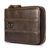 RFIDАнтимагниевая винтажная натуральная кожаная сумка для карт 11 Слоты для карт Монета Сумка Кошелек для мужчин