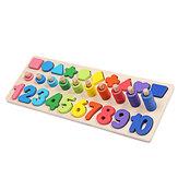 Eğitim Sayma Geometri Ahşap Oyuncaklar 3 in 1 Kurulu Matematik Öğrenme Okul Öncesi Montessori Erken Eğitim Bulmaca Oyuncaklar