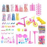 88 PCS Material PP aleatório Boneca Roupas e outros acessórios Conjunto de brinquedos compatível com 11 polegadas Boneca