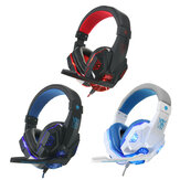 USB 3.5mm LED Surround-Stereo-Gaming-Headset Headbrand Kopfhörer mit Mikrofon