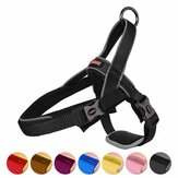 All Size Dog Harness with Traffic Control Handle Belly Protector Reflective Soft Padded Nylon Collar