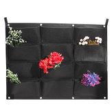12 Taschen Vertikalen Garten Hängen Filz Pflanzer Wandhalterung Indoor Outdoor Belüftung Wachsende Tasche