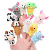 Farm Zoo Animal Finger Puppets Wypchane zabawki pluszowe bajki na dobranoc bajka Fable Boys Girls Party