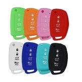 4 Button Silicone Fob Remote Key Case Cover for Hyundai Santa Fe XL