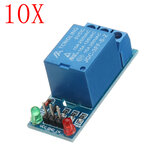 10pcs 5V Low Level Trigger One 1 Channel Relay Module Interface Board Shield DC AC 220V Geekcreit for Arduino - products that work with official Arduino boards