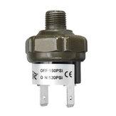 Interruptor de control de presión del tanque del compresor de la válvula de aire NPT1 / 8 pulgadas 70 90 100 120 150 180psi 12V